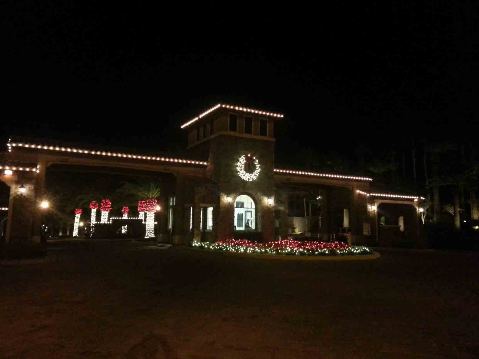 Commercial community entrance by Holiday Decorations in Las Vegas