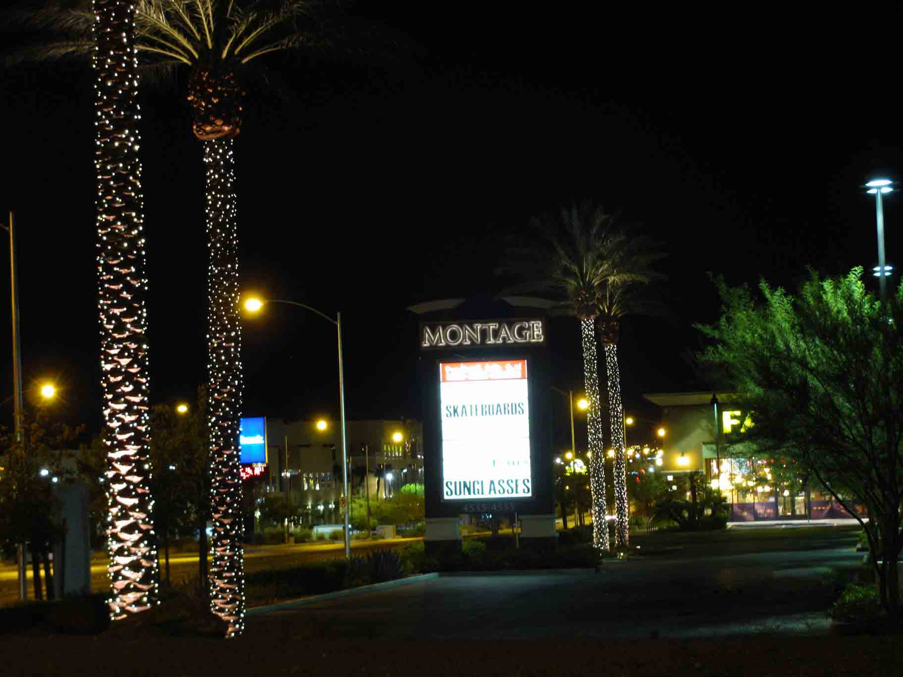 ... Commercial shopping center lighting on palms by Holiday Decorations in Las Vegas & Commercial Holiday Lighting Service In Las Vegas At HolidayDecorationsLV