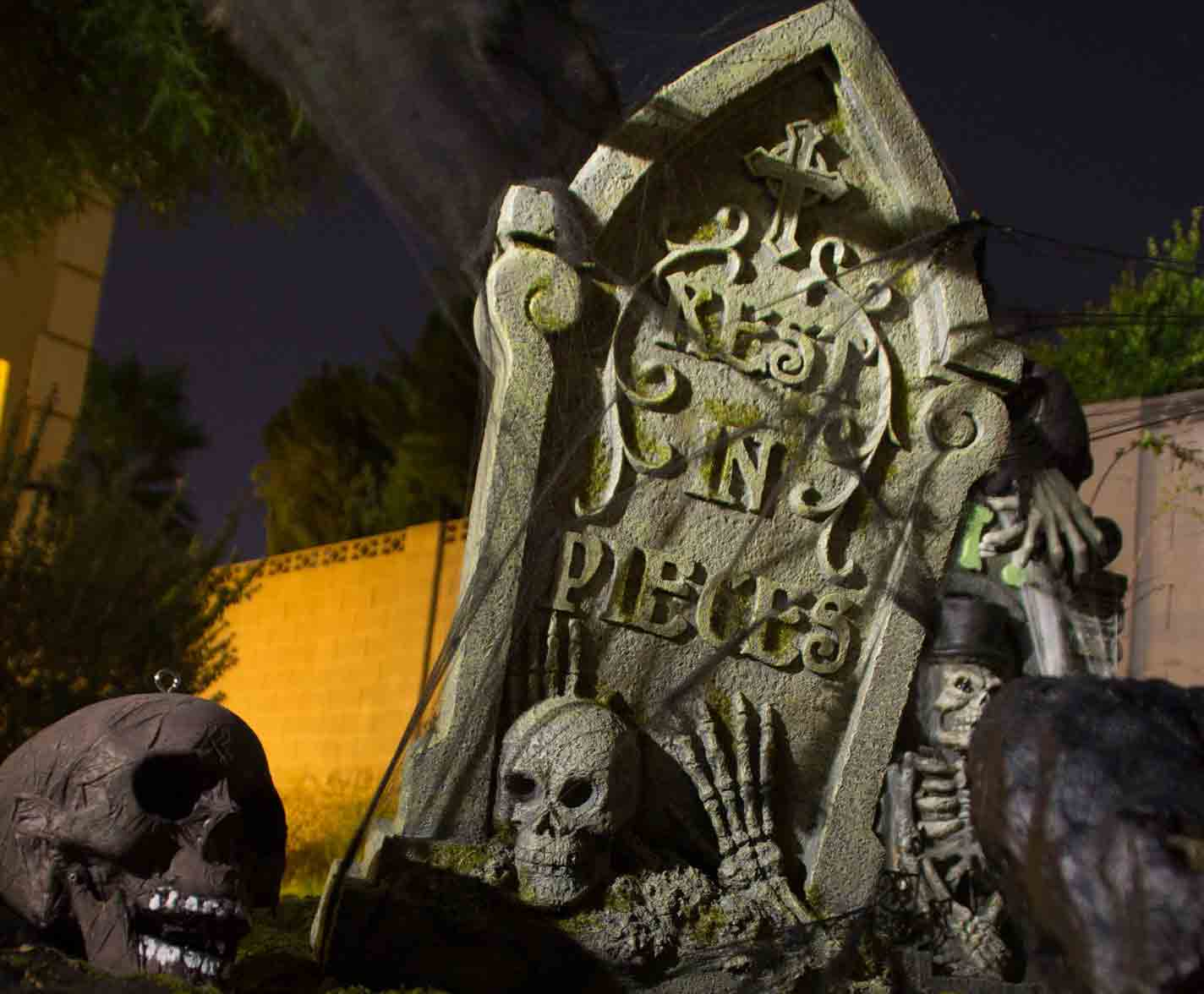 Halloween graveyard by Holiday Decorations in Las Vegas
