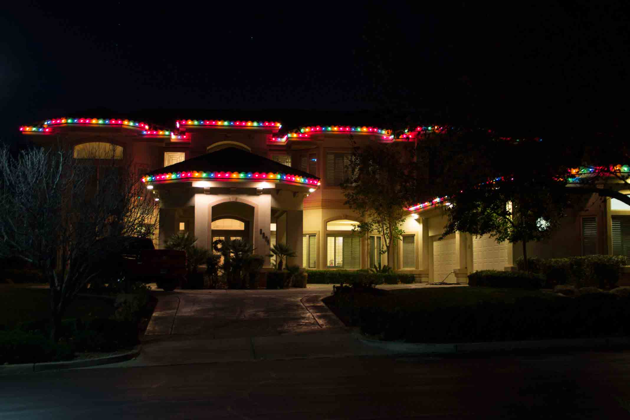 Traditional Christmas lights by Holiday Decorations in Las Vegas