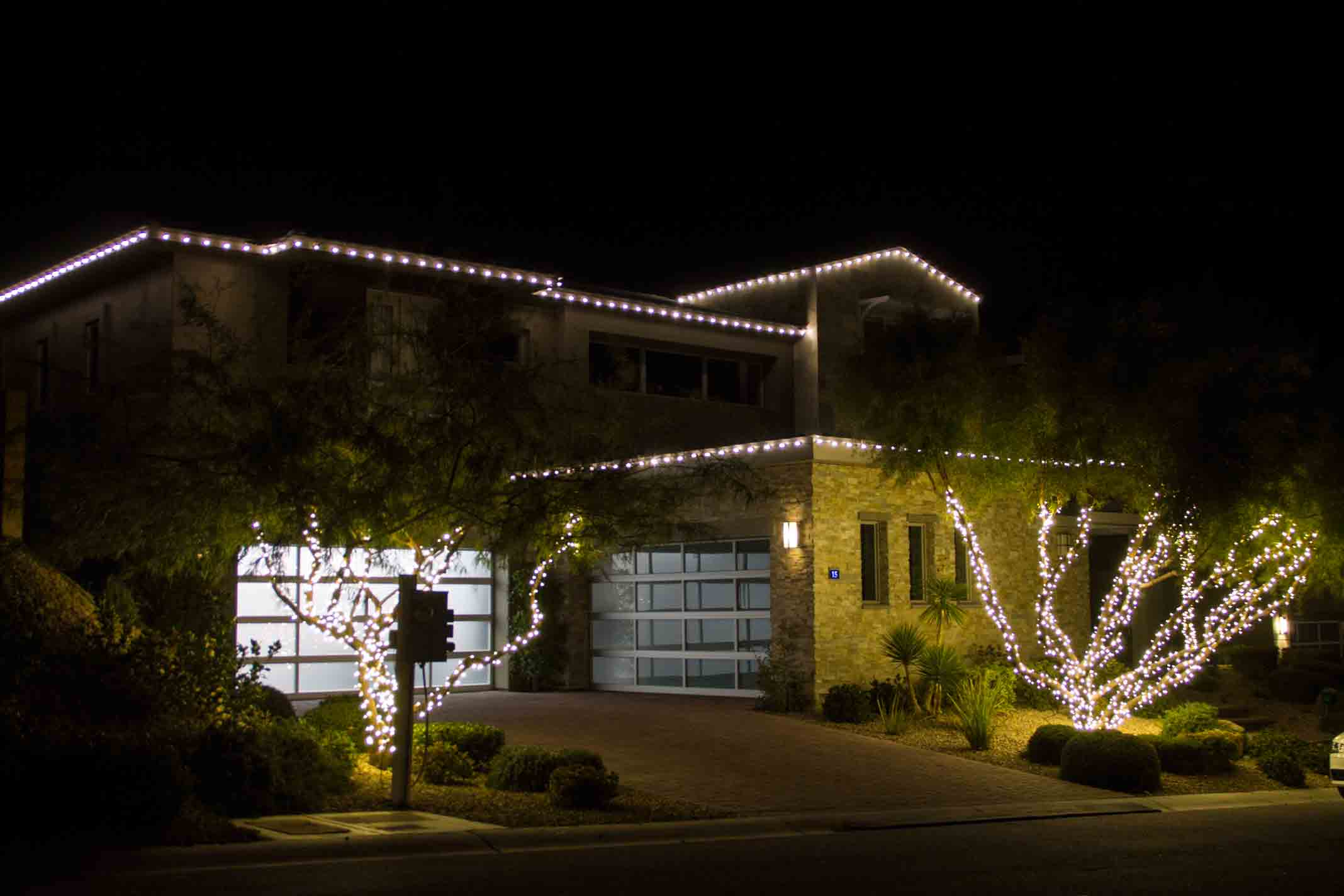 Ridges LED Christmas lights by Holiday Decorations in Las Vegas