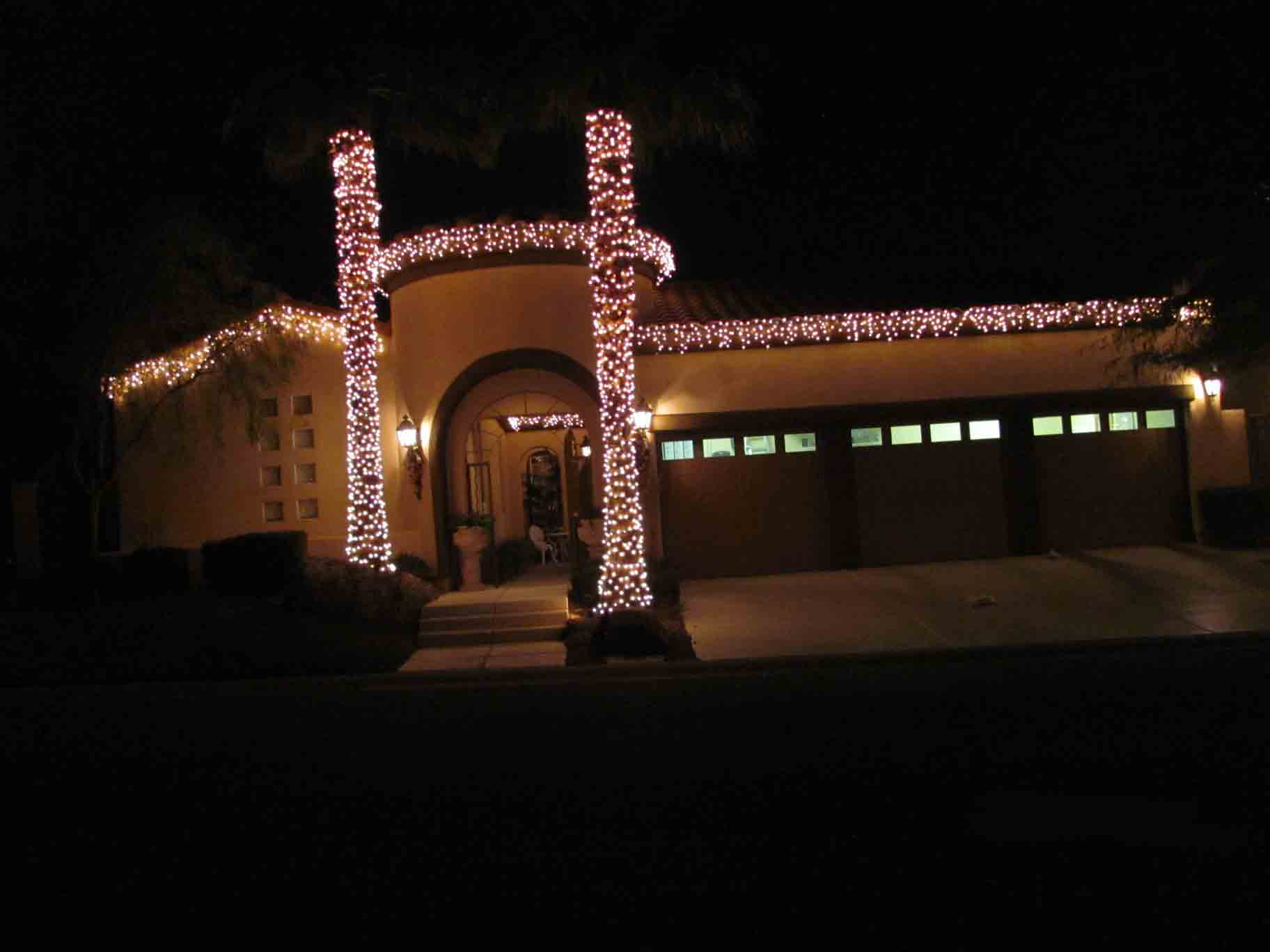 Red Rock Christmas lights by Holiday Decorations in Las Vegas