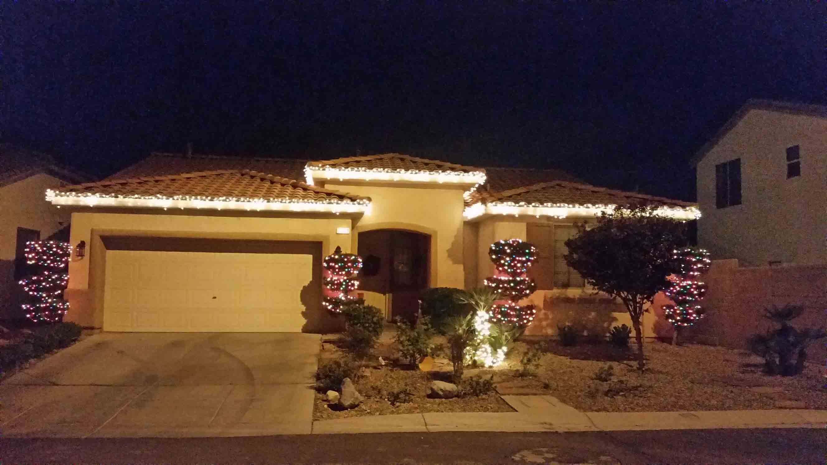 Residential Christmas lighting by Holiday Decorations in Las Vegas