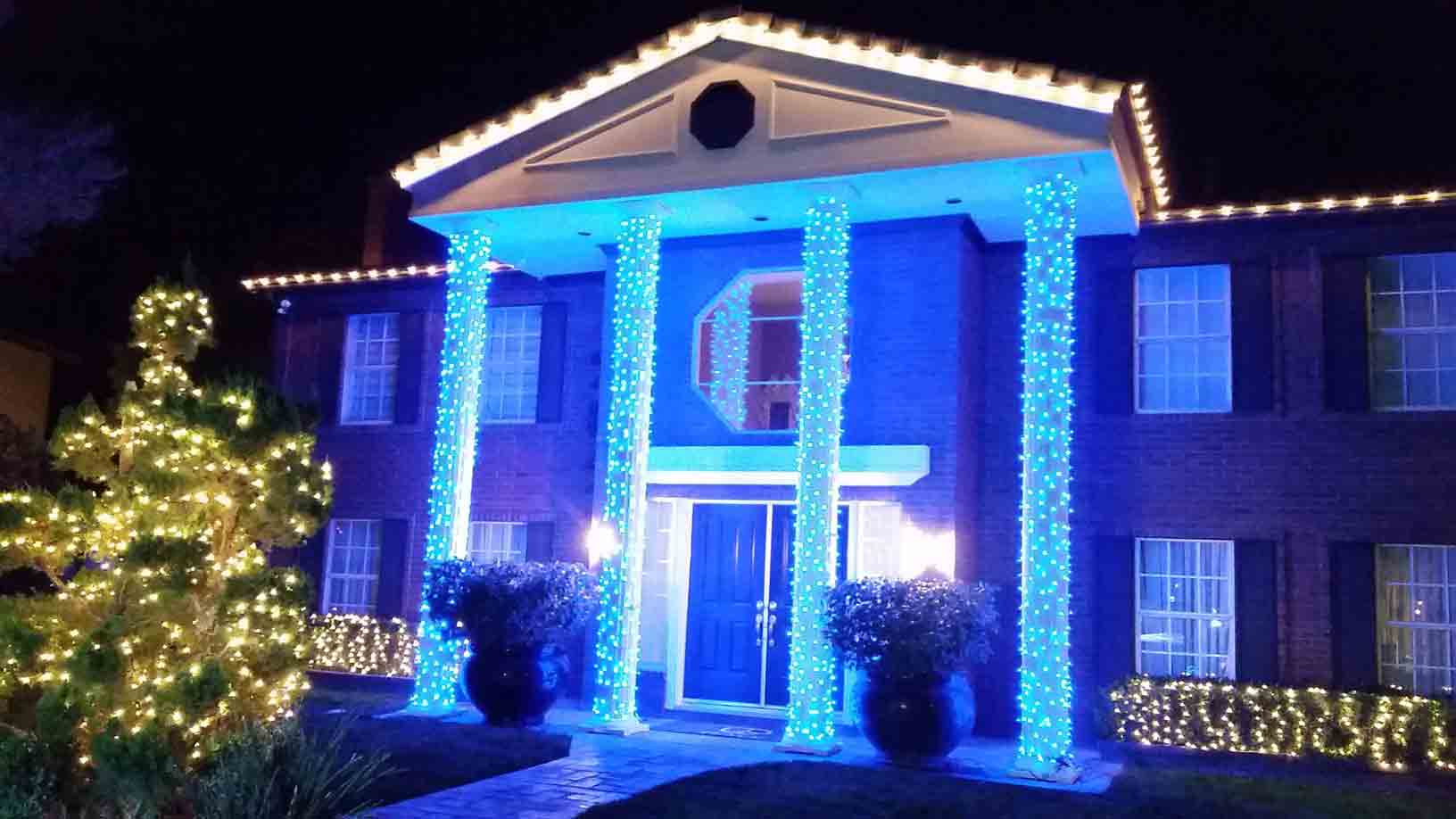 Hanukkah holiday lighting by Holiday Decorations in Las Vegas
