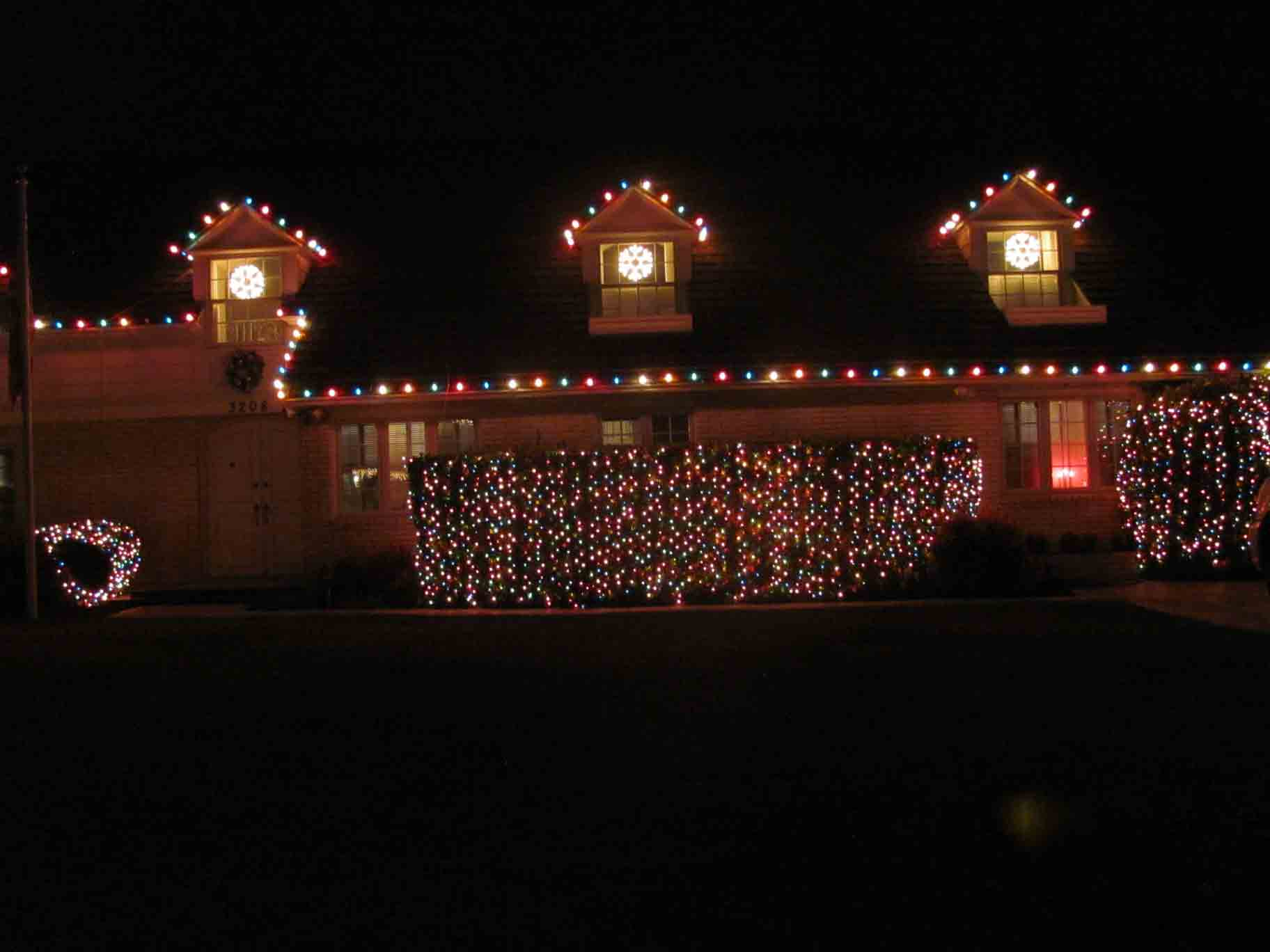 Multi-colored C-9 Christmas lights by Holiday Decorations in Las Vegas