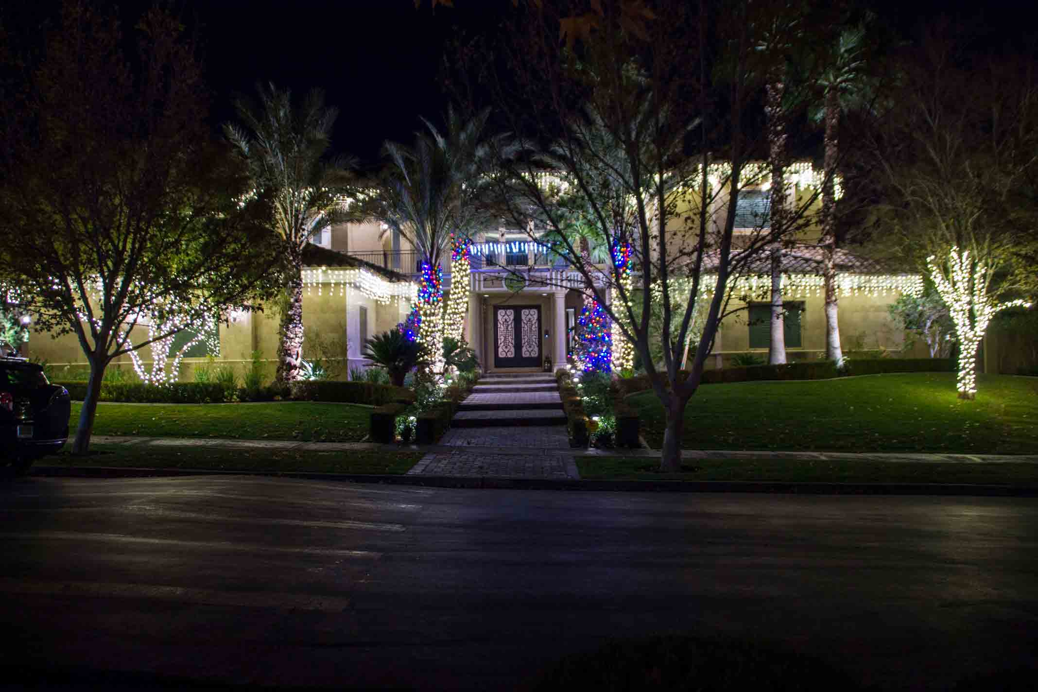 LED holiday lighting service by Holiday Decorations in Las Vegas